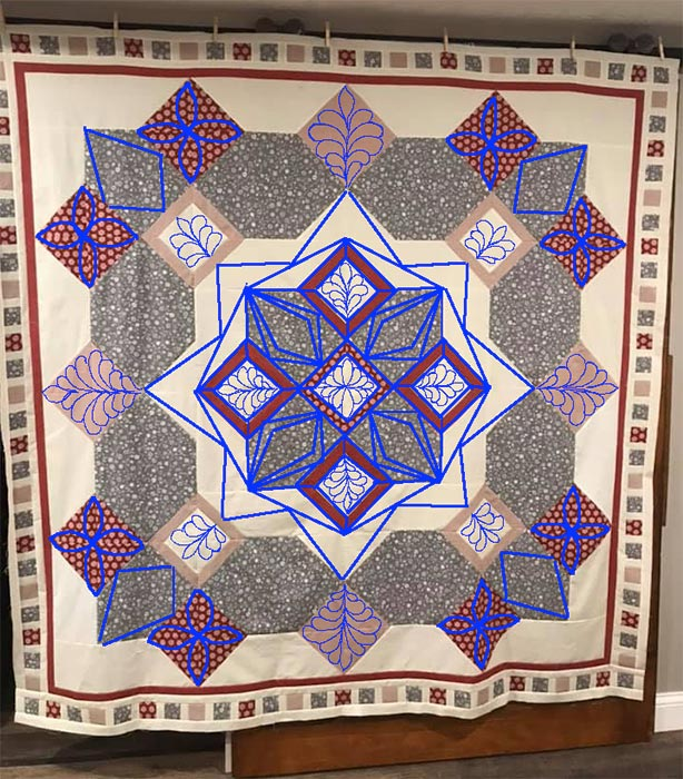 Athina's Mama Gypsy Quilt with Angela Huffman's Quilting Plan
