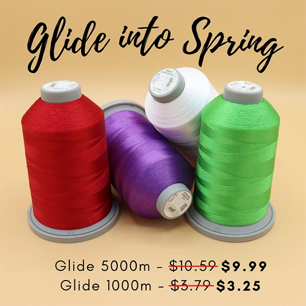 Glide into Spring Glide Thread Sale at Quilted Joy