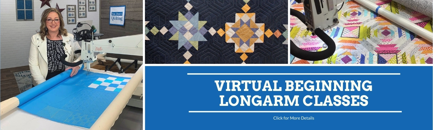 Virtual Beginning Longarm Classes at Quilted Joy