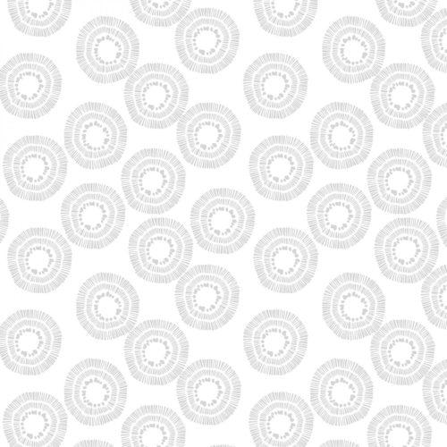 "Circle Burst Essential 108"" Quilt Back - Grey"