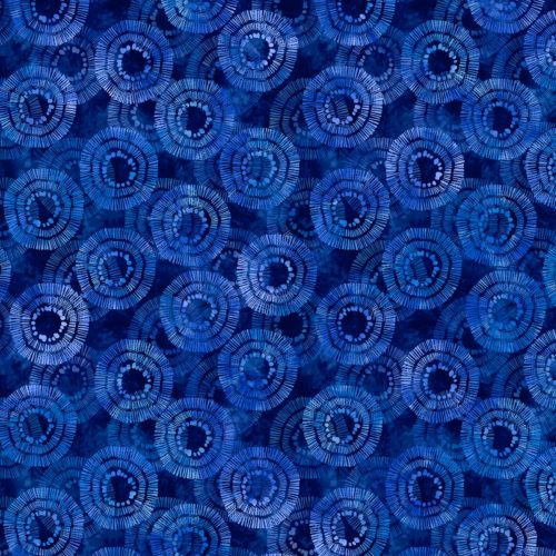 "Circle Burst Essential 108"" Quilt Back - Blue"