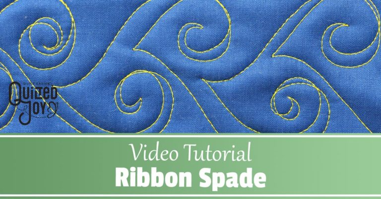 Video Tutorial How to Quilt Ribbon Spades - Quilted Joy