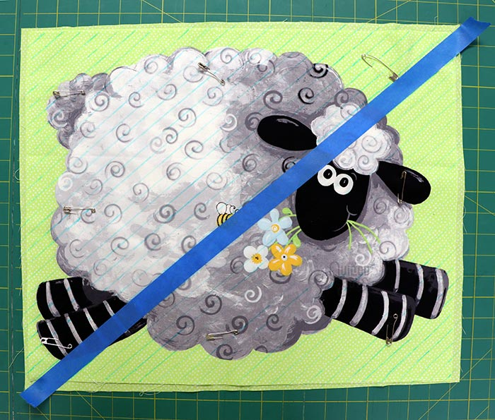 Lewe the Ewe Susybee Panels Marked for the Chenille Pillow