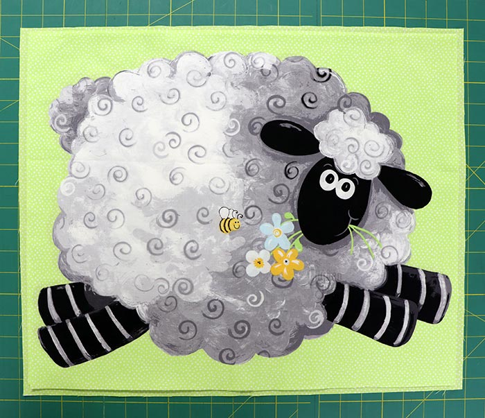 Lewe the Ewe Susybee Panels Layered for the Chenille Pillow