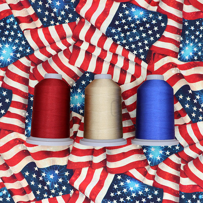 Yankee Doodle Dandies Glide Thread Pack available exclusively at Quilted Joy