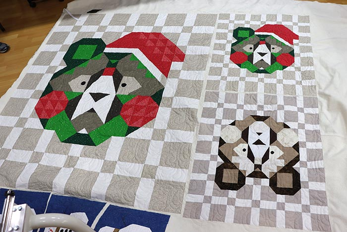 image of quilts with Christmas Bears