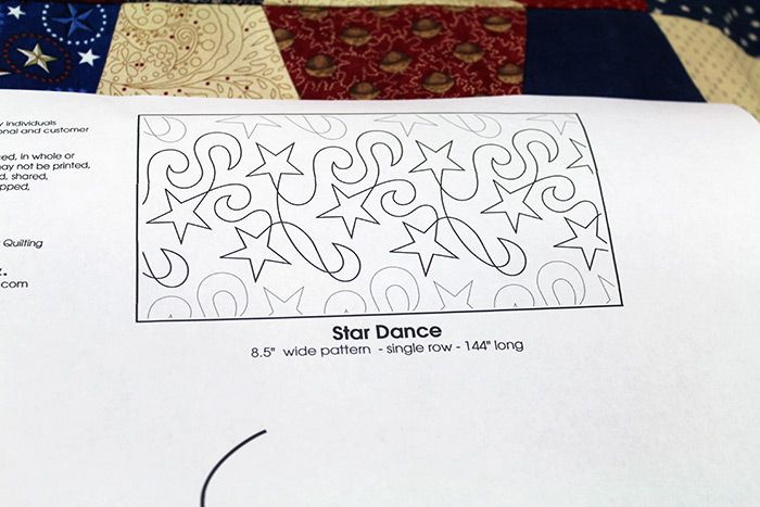 Close up of the paper pantograph thumbnail on the Star Dance paper pantograph