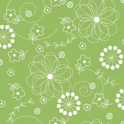 """Kimberbell Doodles - Green 108"""" Wide Quilt Back Available at Quilted Joy"""