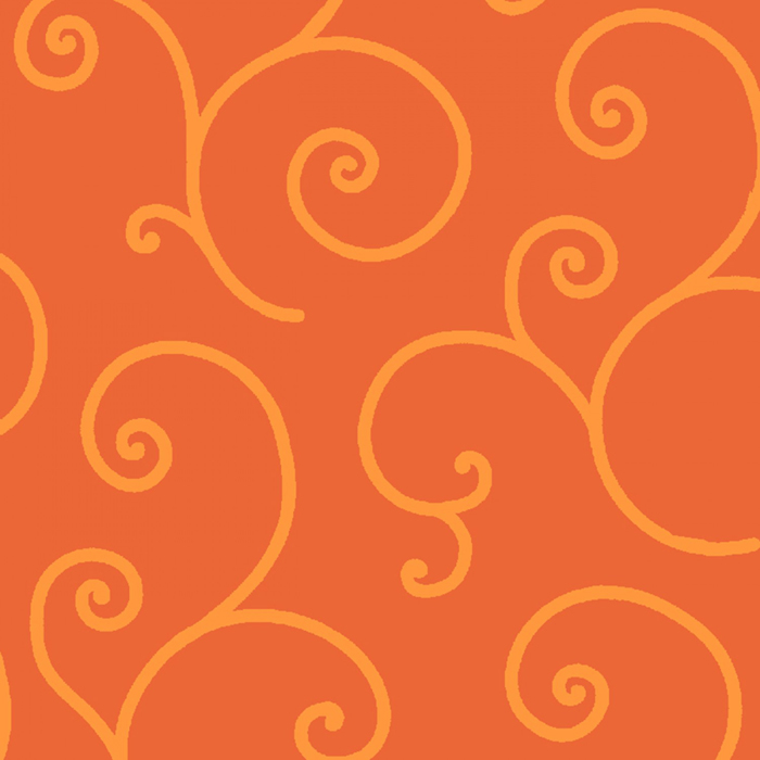 """Kimberbell Scroll - Orange 108"""" Wide Quilt Back Available at Quilted Joy"""