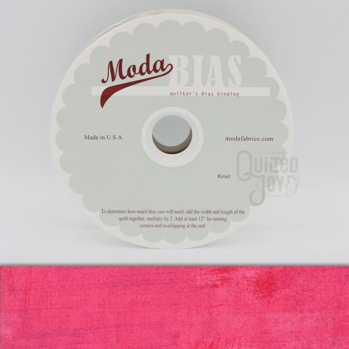 Grunge Quilter's Bias Binding - Paradise Pink 40 Yards