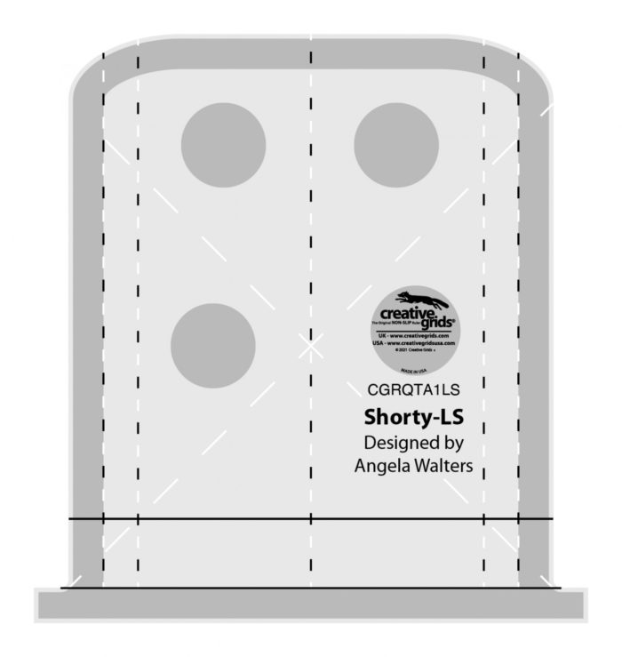 Shorty Low Shank Machine Quilting Ruler Available at Quilted Joy
