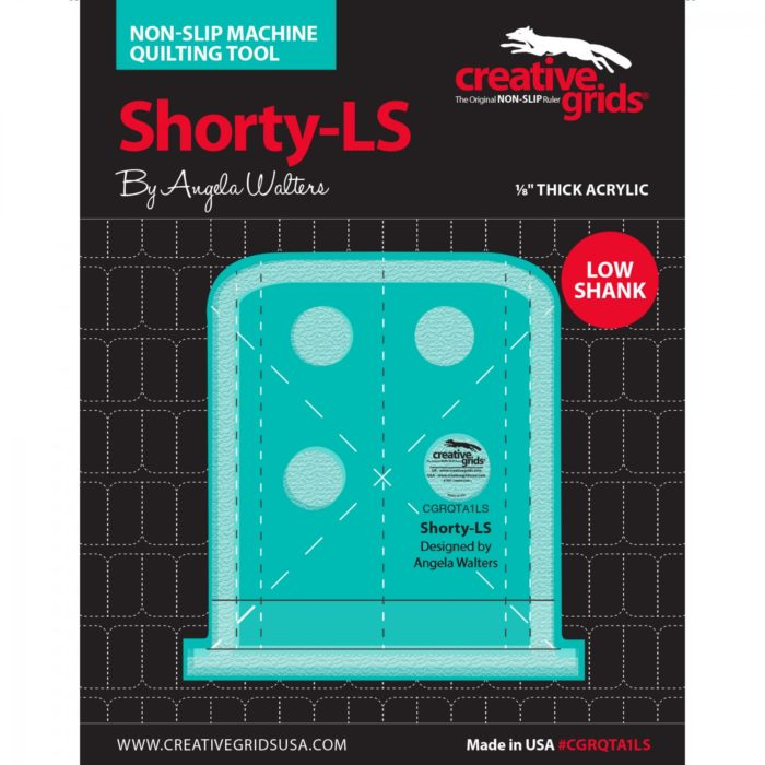 Image of Shorty Low Shank Machine Quilting Ruler Available at Quilted Joy