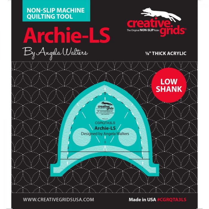 Archie Low Shank Machine Quilting Ruler Available at Quilted Joy