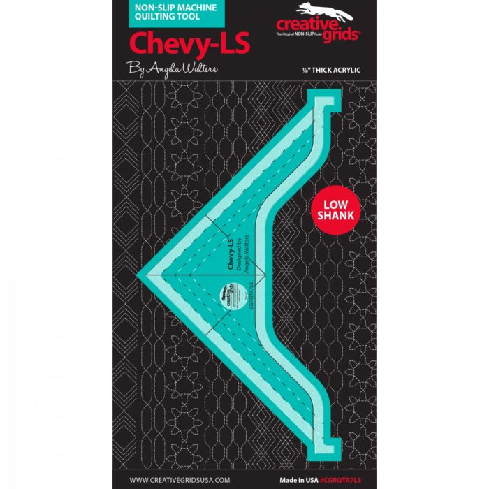 Image of Chevy Low Shank Machine Quilting Ruler Available at Quilted Joy