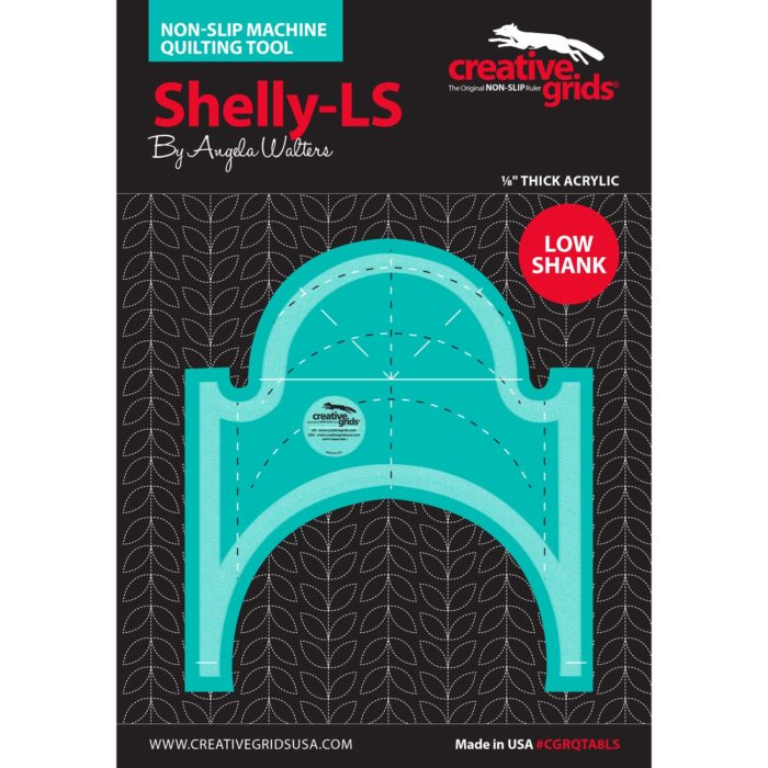 Image of Shelly Low Shank Machine Quilting Ruler Available at Quilted Joy