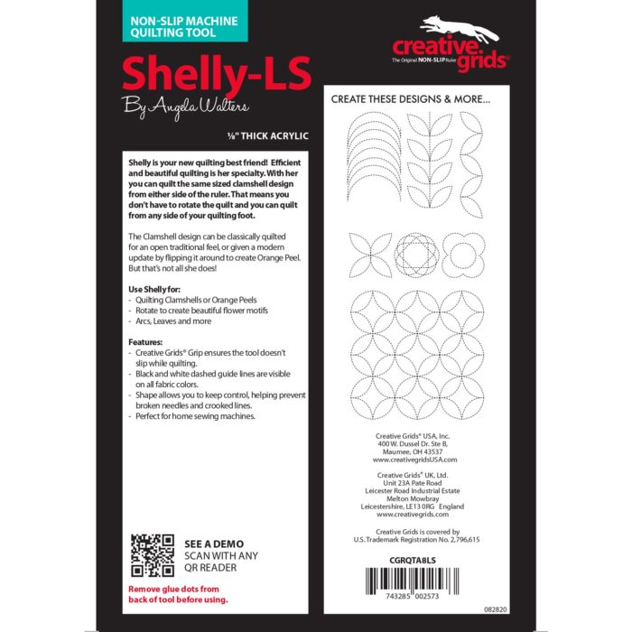 Shelly Low Shank Machine Quilting Ruler Available at Quilted Joy
