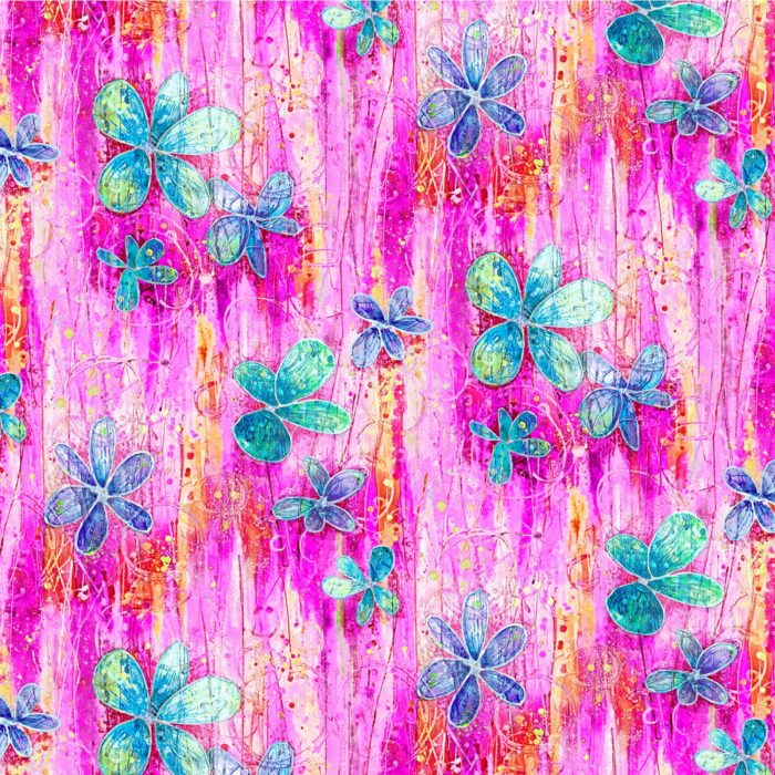 """Floral Dance - Fuchsia 108"""" Quilt Back Available at Quilted Joy"""
