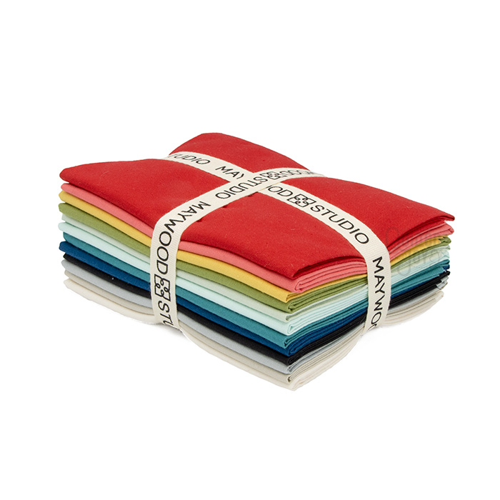 Silky Solids Fat Quarter Bundle Available at Quilted Joy