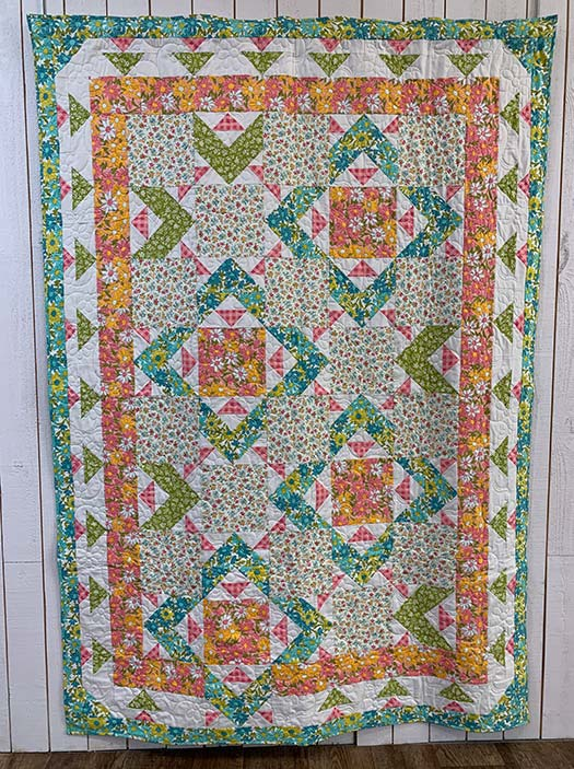 image of the Summer Saturday Quilt, designed by Angela Huffman