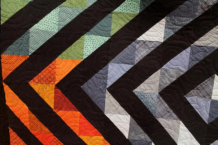 close up image of a quilt