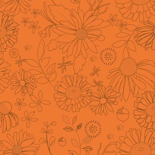 """Adel In Autumn - Persimmon 108"""" Wide Quilt Back Available at Quilted Joy"""