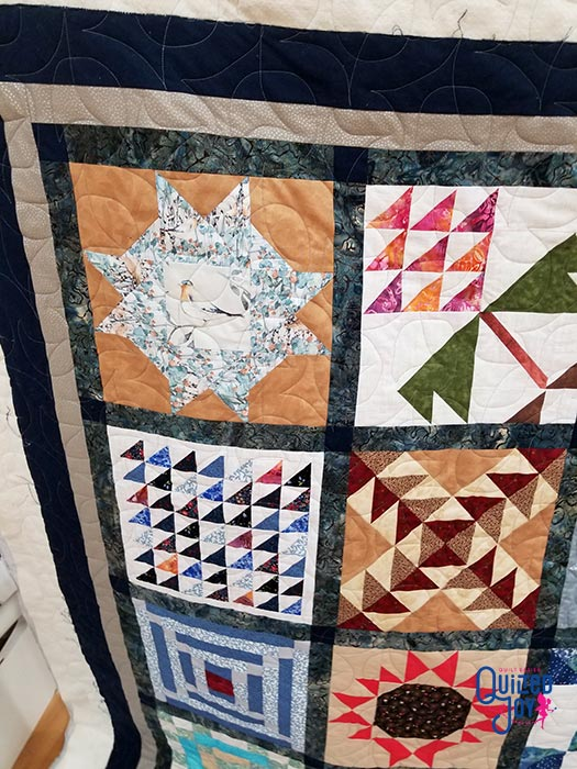 image of quilt blocks in a sampler quilt