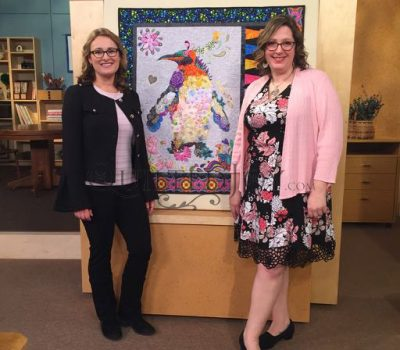 Angela Huffman and Sara Gallegos on the set of Fons & Porter Love of Quilting Episode 3202 All Gussied Up