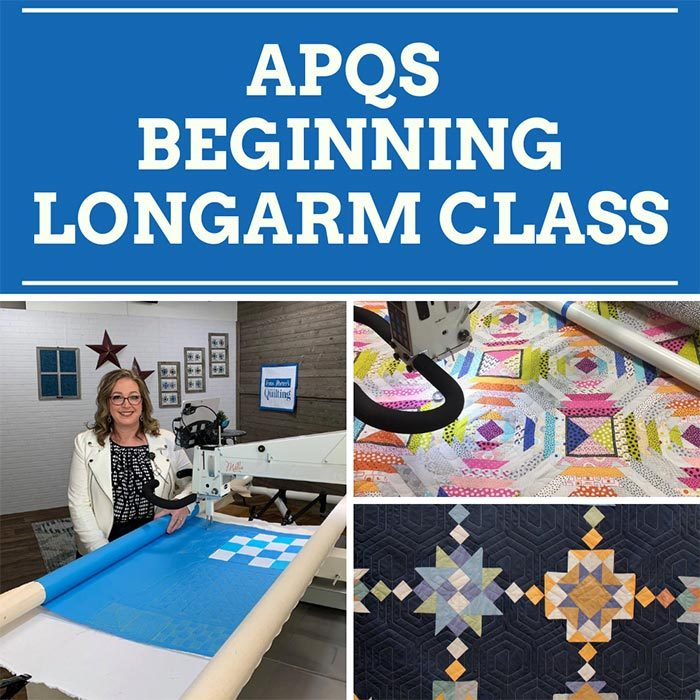 APQS Beginning Longarm Class taught by Angela Huffman of Quilted Joy
